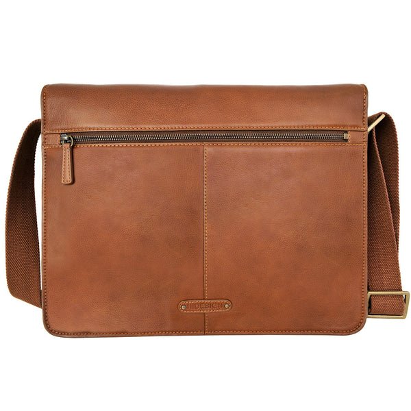 Aiden Horizontal Leather Messenger Bag