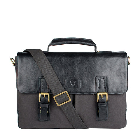 Bedouin Medium Canvas and Leather Briefcase