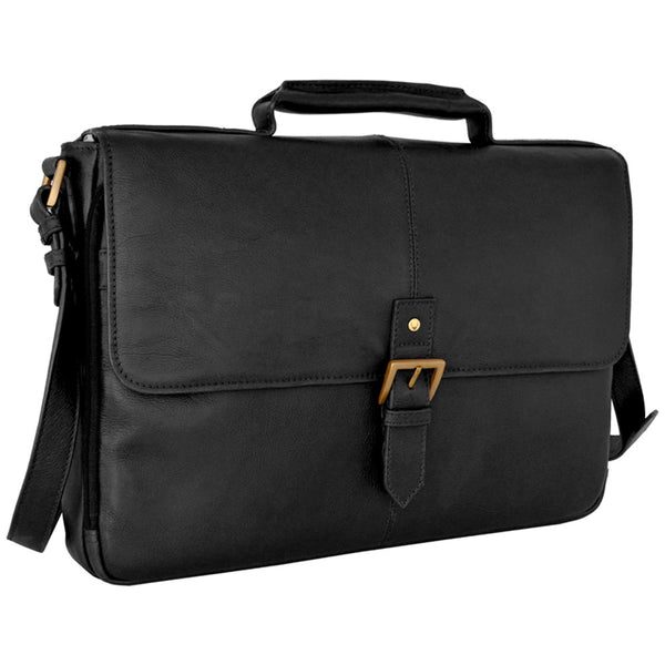 "Charles 15"" Laptop Compatible Leather Briefcase"