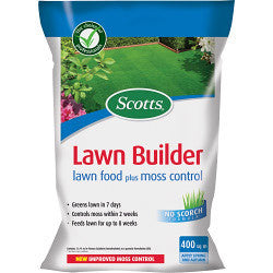 Scotts Lawn Builder Lawn Food Plus Moss Control - 400m2 - Gardenbox