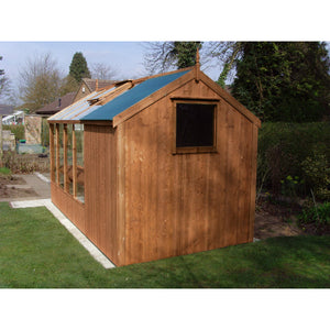 6ft Wide by 6ft Deep Combination Shed for your Swallow Kingfisher Greenhouse - Gardenbox