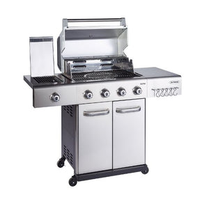 Outback Jupiter 4 Stainless Steel Gas BBQ - Free Pizza Stone & Griddle