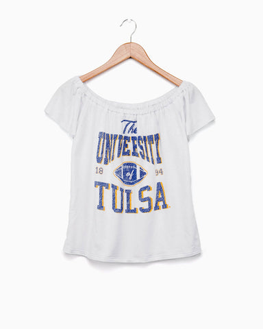 White University of Tulsa RS Keyhole Tee (FINAL SALE)