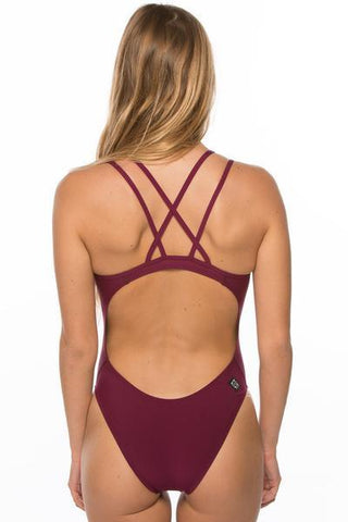 Murray Fixed-Back Onesie - Cabernet