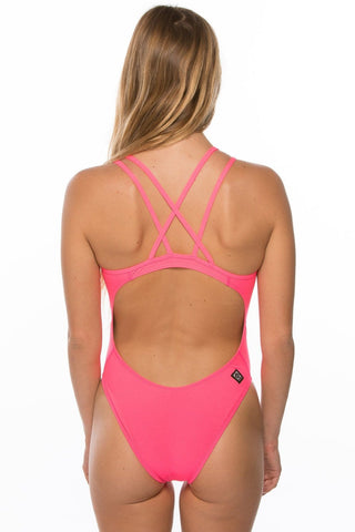 Murray Fixed-Back Onesie - Hot Pink
