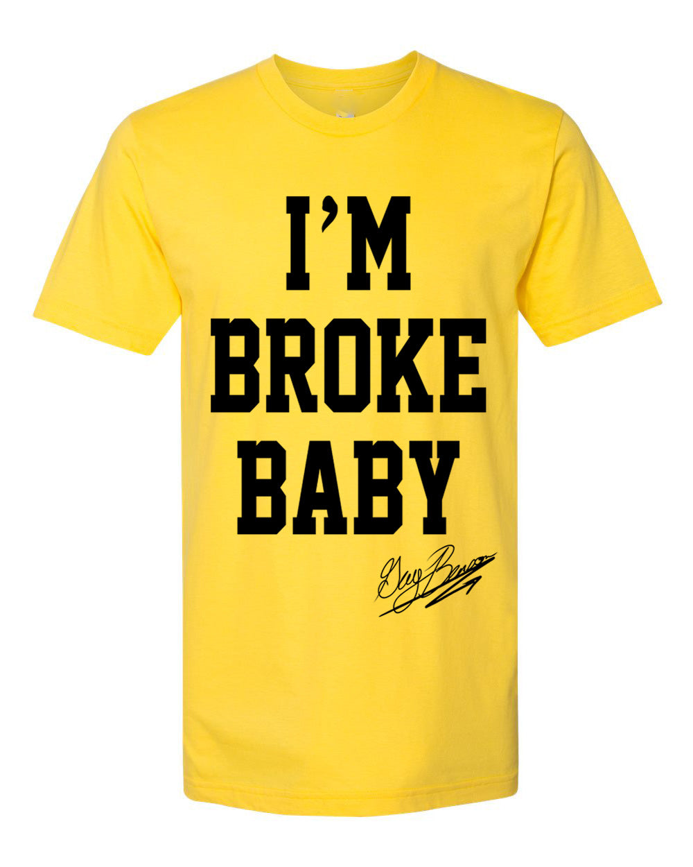 Guy Benson Collection Im Broke Baby T-Shirt - Yellow/Black