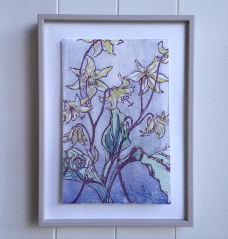 Laura Sowerby Colour Woodblock Print framed