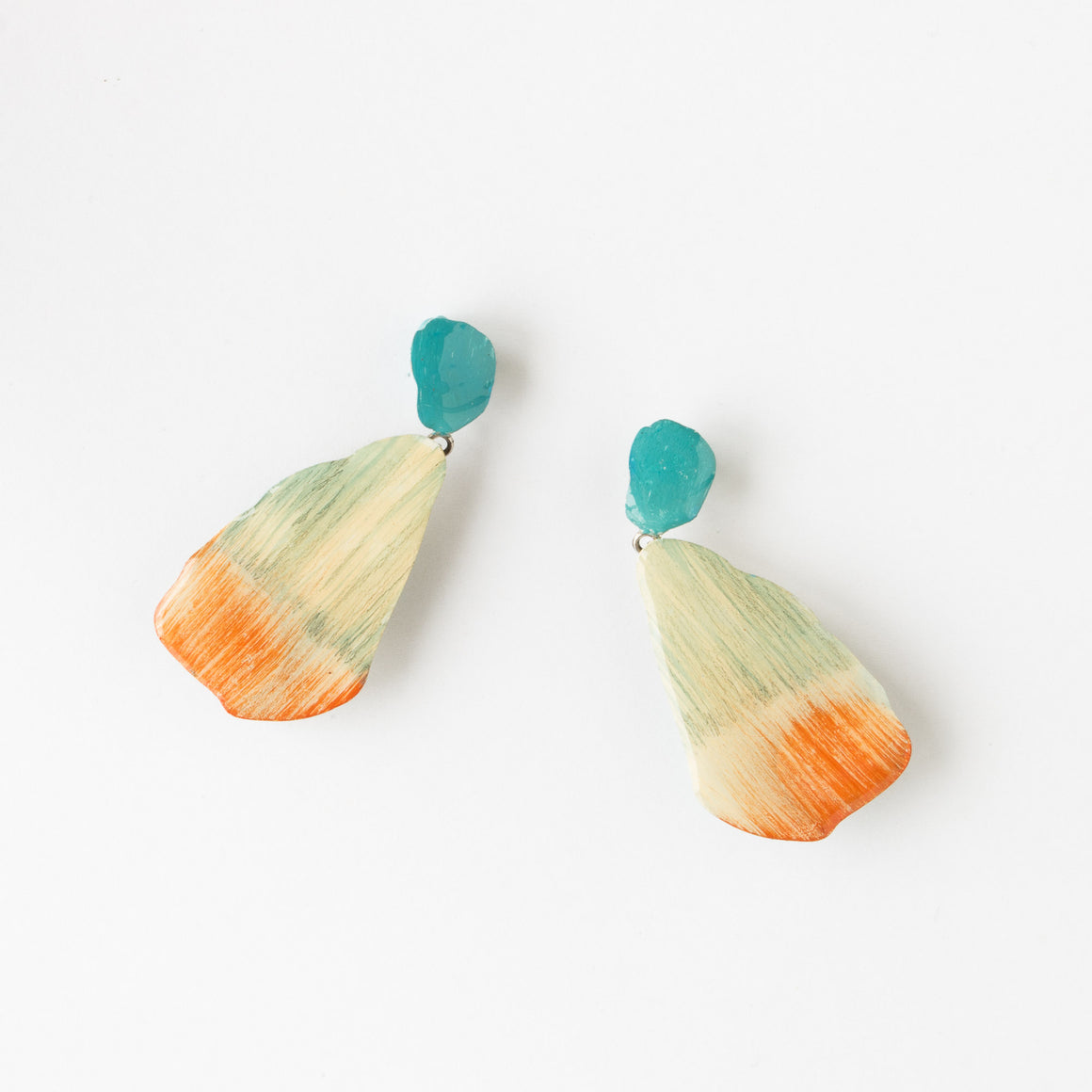 221 - Large Contemporary Hanging Earrings - Sold by Chic & Basta