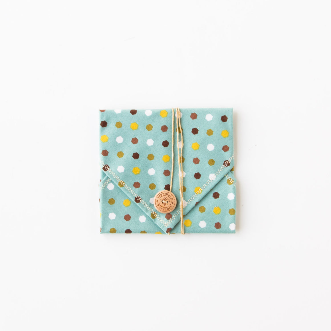 Blue Plaid - Bees Wax Sandwich Wrap - Eco Friendly & Zero Waste - Sold by Chic & Basta