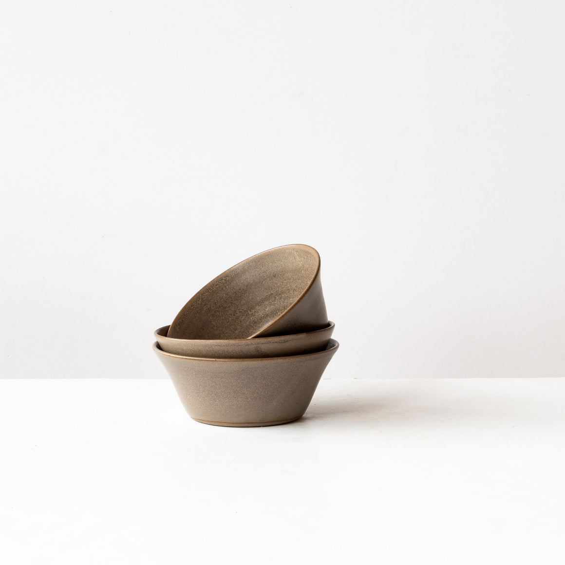 Taupe & Matte Black Stoneware Blooming Bowls - Sold by Chic & Basta