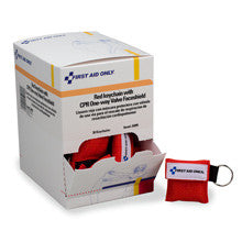 CPR Face Shield in Woven Keychain Pouch