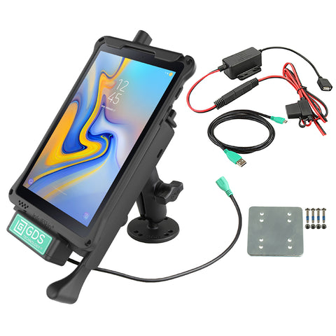 RAM-GDS-B-101LB-SAM40U RAM Mounts GDS® Locking Vehicle Dock for Samsung Galaxy Tab A 8.0 (2018) Dash Mount Bundle -  - RAM Mounts - Synergy Mounting Systems - RAM Mounts Authorized Dealer