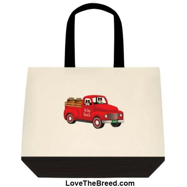Border Collie Biscuit Truck Extra Large Tote