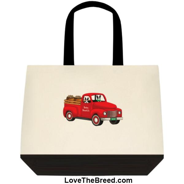 Boston Terrier Biscuit Truck Extra Large Tote