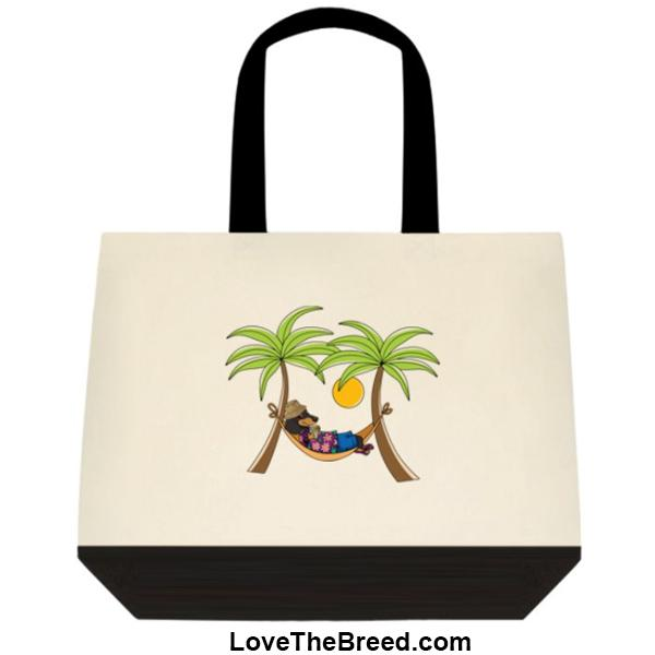 Dachshund Black and Tan in Hammock Extra Large Tote