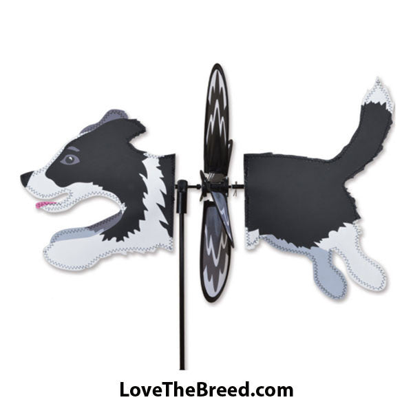 Border Collie Dog Petite Wind Spinner