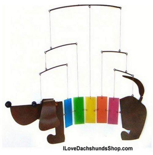 Dachshund Mobile Wind Chime