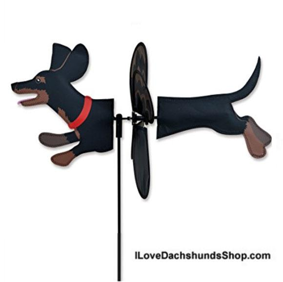 Dachshund Wind Spinner Petite Black and Tan
