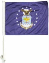 "11"" x 15"" Double Side Car Flag -Air Force"