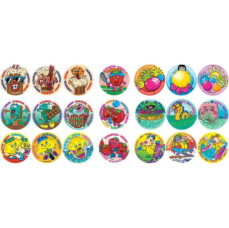 #955 Mixed Pack Scratch n Sniff Smelly Stickers