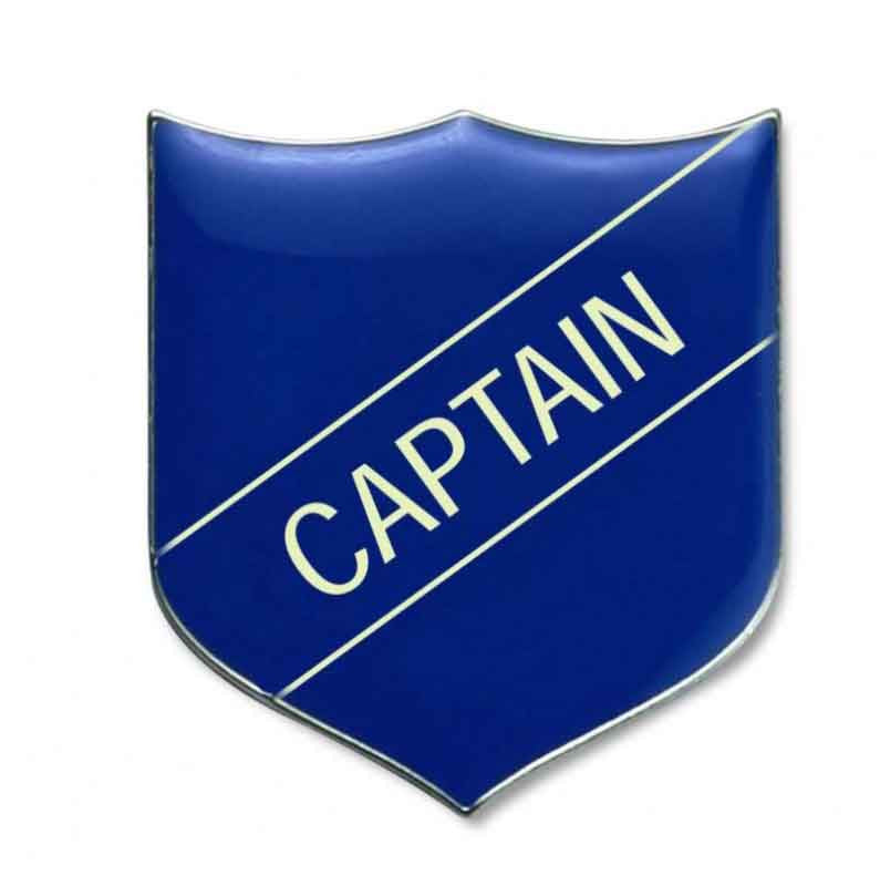 #E1 Captain Enamel Badges - pack of 5