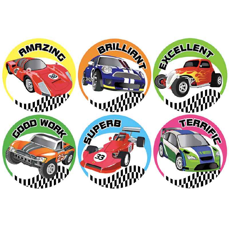 #723 Car Stickers Multipack