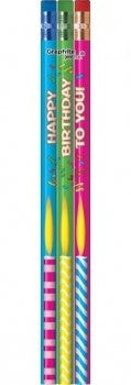 #P973 / #P974 Happy Birthday To You Lead Pencils