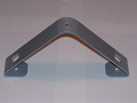 Silver Closet Rod Bracket for angled (sloped) ceiling