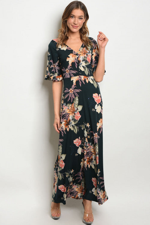 Alaina Floral Maxi Dress