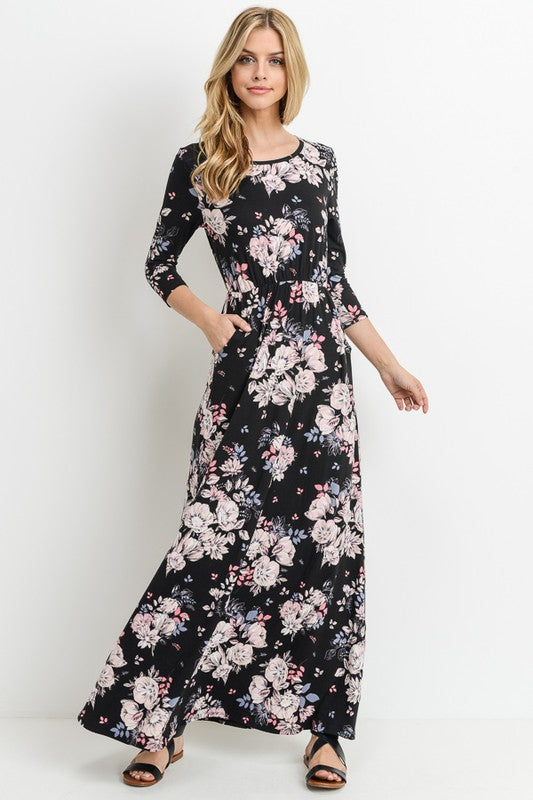 Ellie Floral Maxi Dress