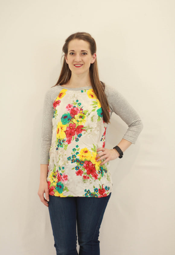 Floral Baseball Tunic - Final Sale
