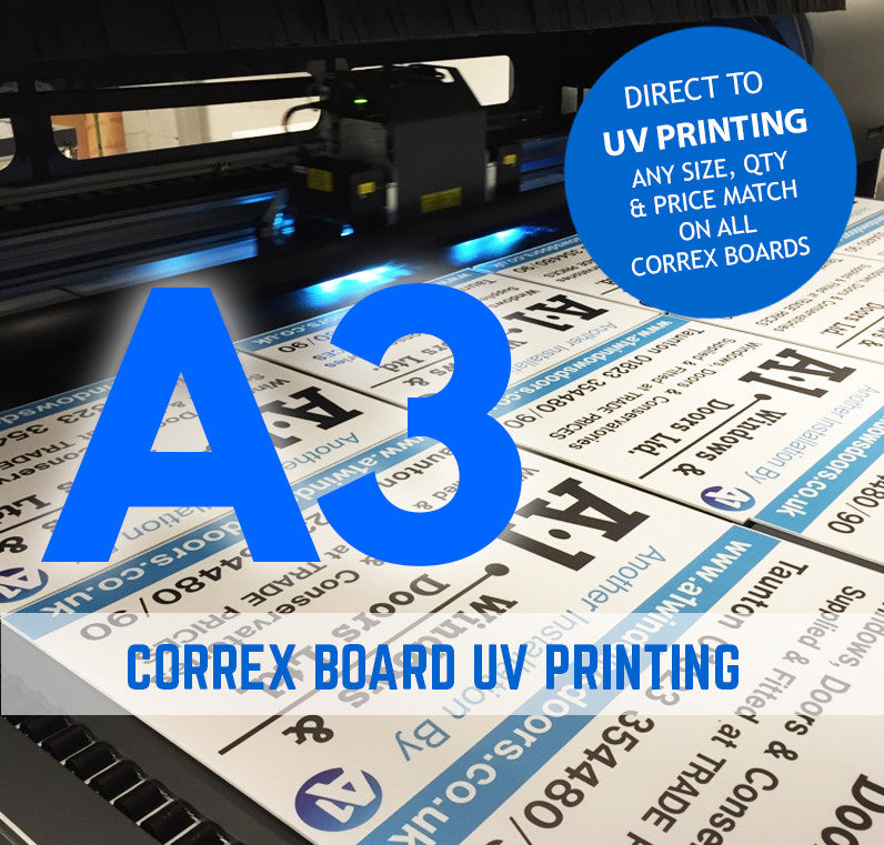 A3 Correx Boards Signs Printing