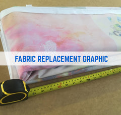 FABRIC GRAPHIC REPLACEMENT QUIRK SURGE CURL FABRIC STAND