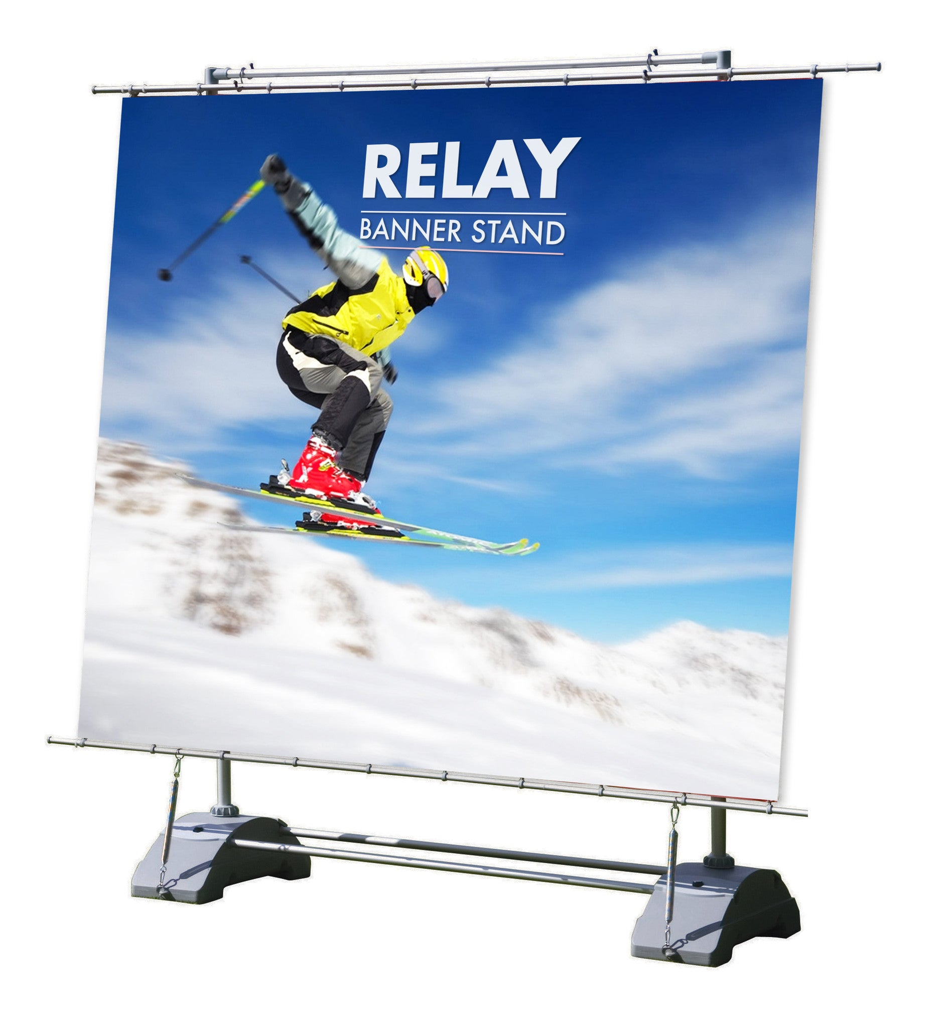 RELAY HORIZON LARGE OUTDOOR ADVERTISING MARKETING BANNER STAND