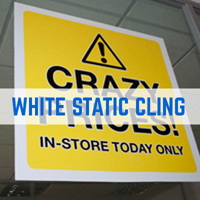 STATIC CLING WINDOW STICKER PRINTING WHITE