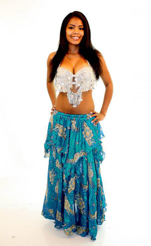 Blue Bollywood Skirt