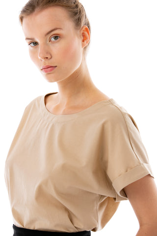 Blouse in the shade of light-brown