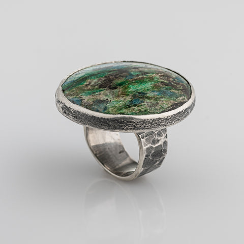 "Silver ring ""Midnight mead"""