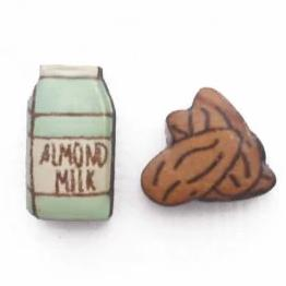 bok bok b'gerk earrings 'almond milk & nuts'