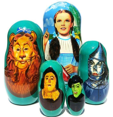 russian babushka dolls 5 set 'wizard of oz' large