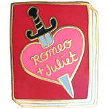 jane mount enamel pin 'romeo & juliet book'