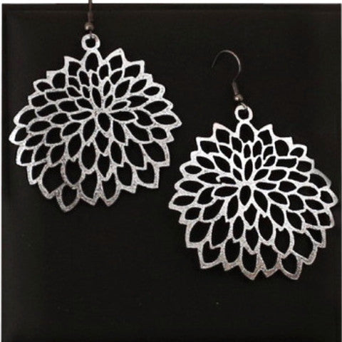 doury earrings 'camellia' silver