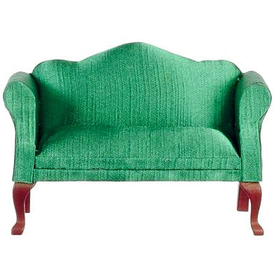 miniature loveseat 'queen anne mahogany' emerald