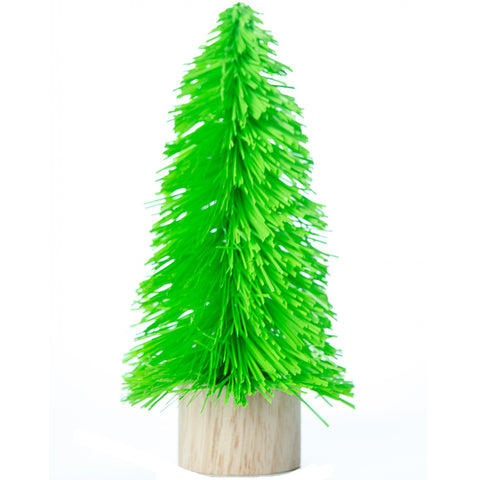acorn & will mini christmas tree 'kitsch green' small