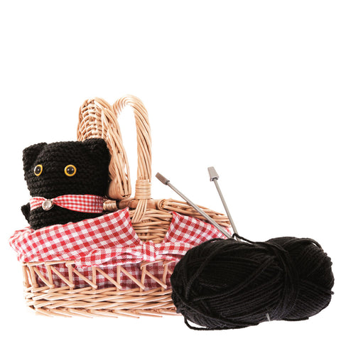knitting kit 'cat in basket'