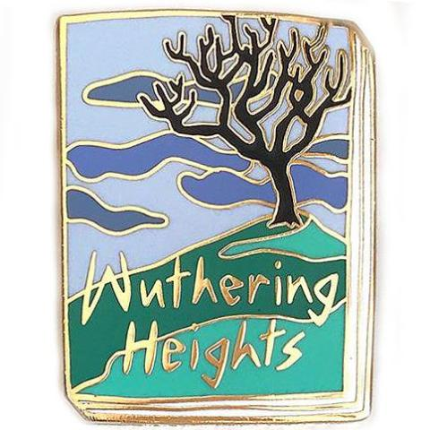 jane mount enamel pin 'wuthering heights book'