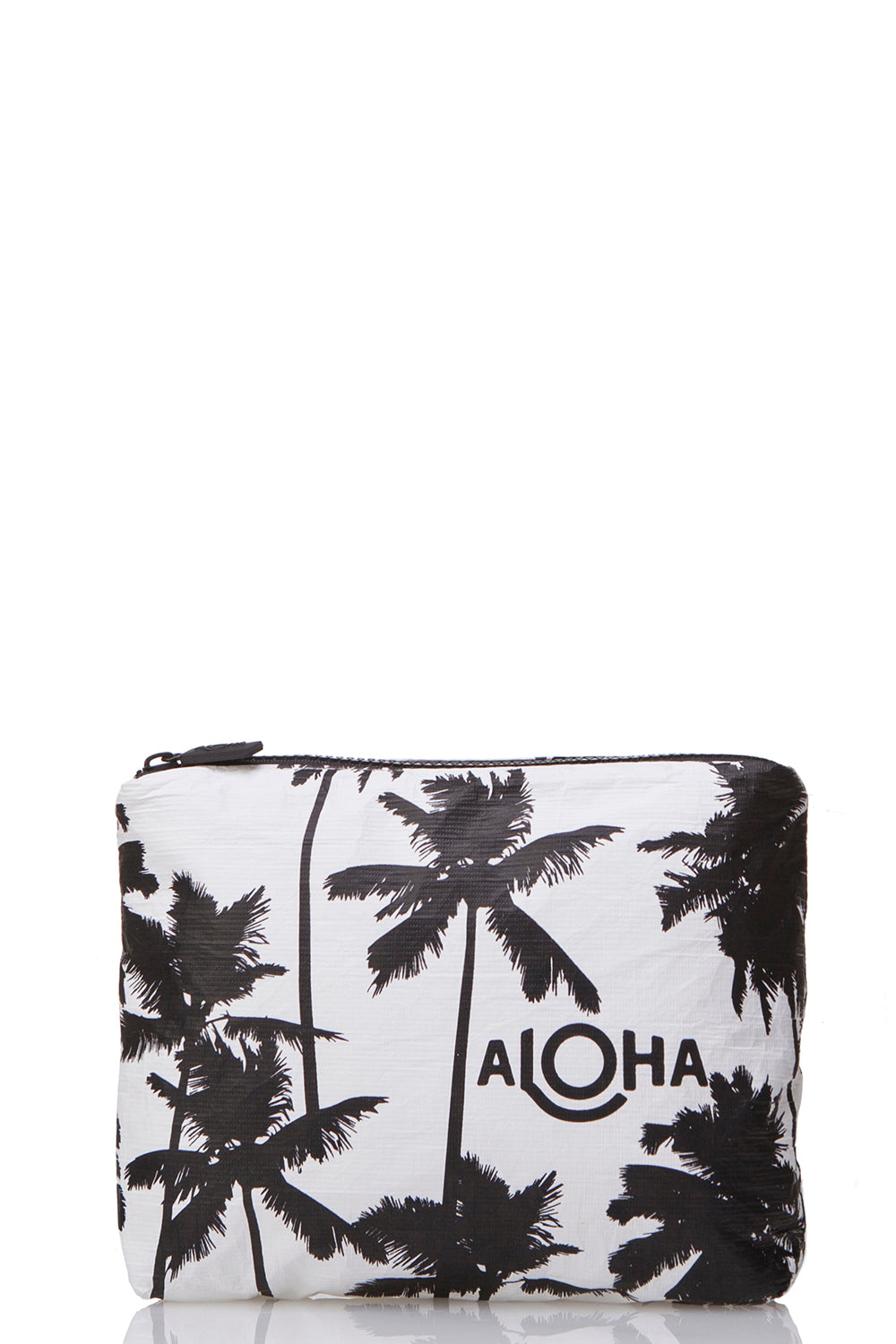 ALOHA Collection Small Coco Palms Pouch in Black