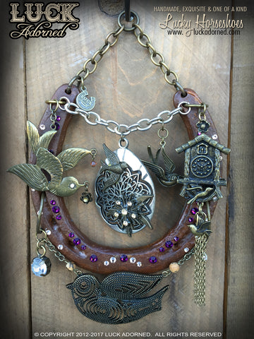 HOUSE OF SWALLOWS - Lucky horseshoe - unique gift - home decor