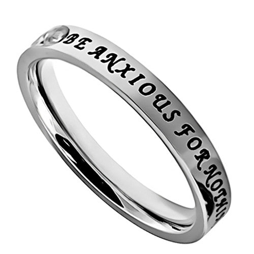 Stainless Steel Christian Ring Philippians 4