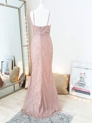 Glamour Girl Glitter Gown Rose Gold
